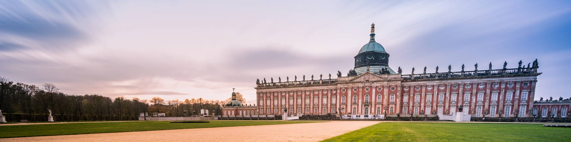 Sunset-with-Sanssouci-Palace-in-Potsdam-Germany